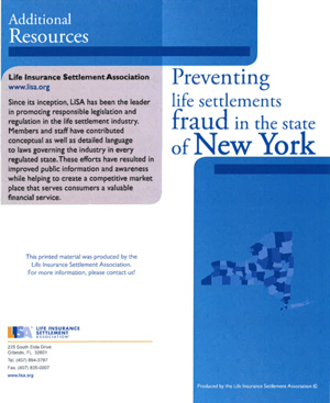 Click the thumbnail to download the Life Settlement Fraud Prevention PDF